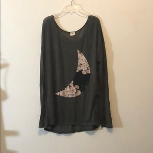 Size large O'Neill gray long sleeve top